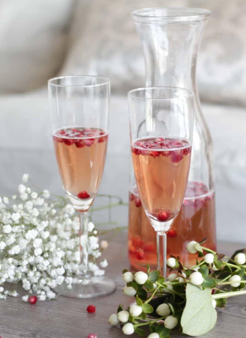 Prosecco Pomegranate Cocktail!
