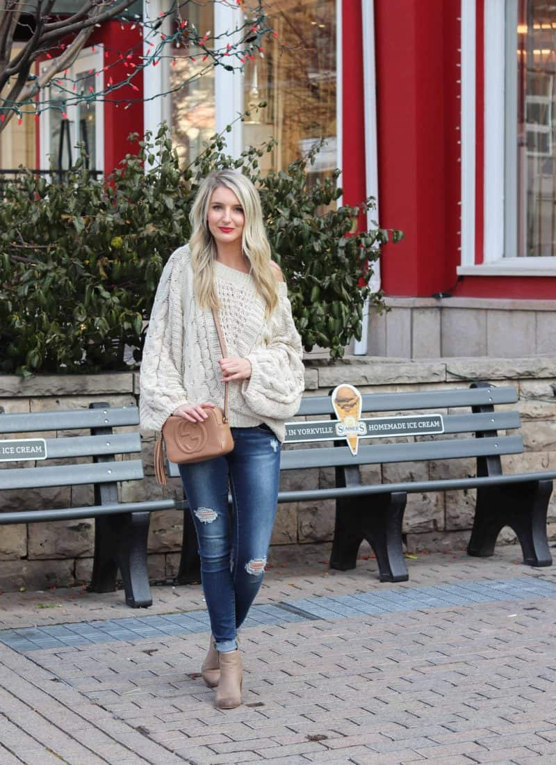 Express White off the shoulder sweater