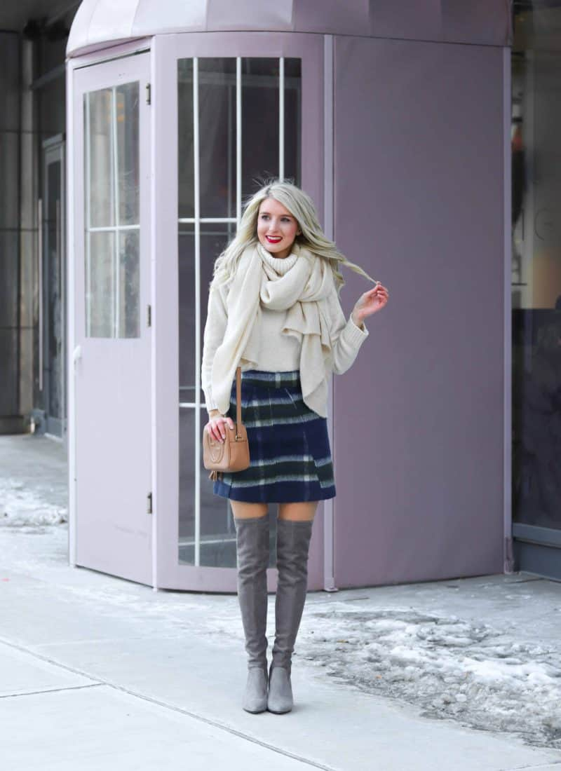 Winter Outfit featuring Plaid Skirt