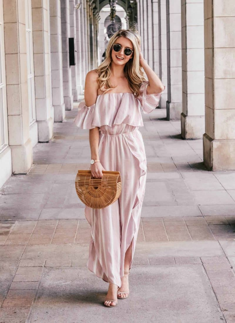 Pink Striped Jumpsuit
