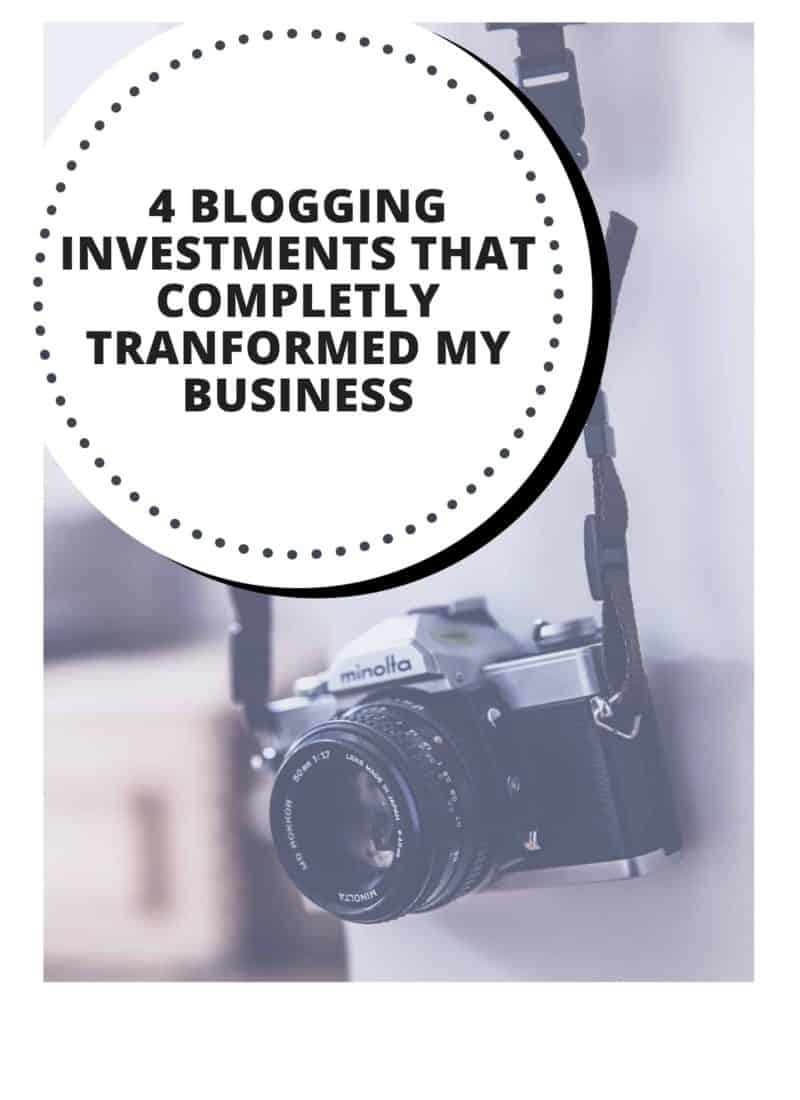 4 Blogging Investments I Recommend!