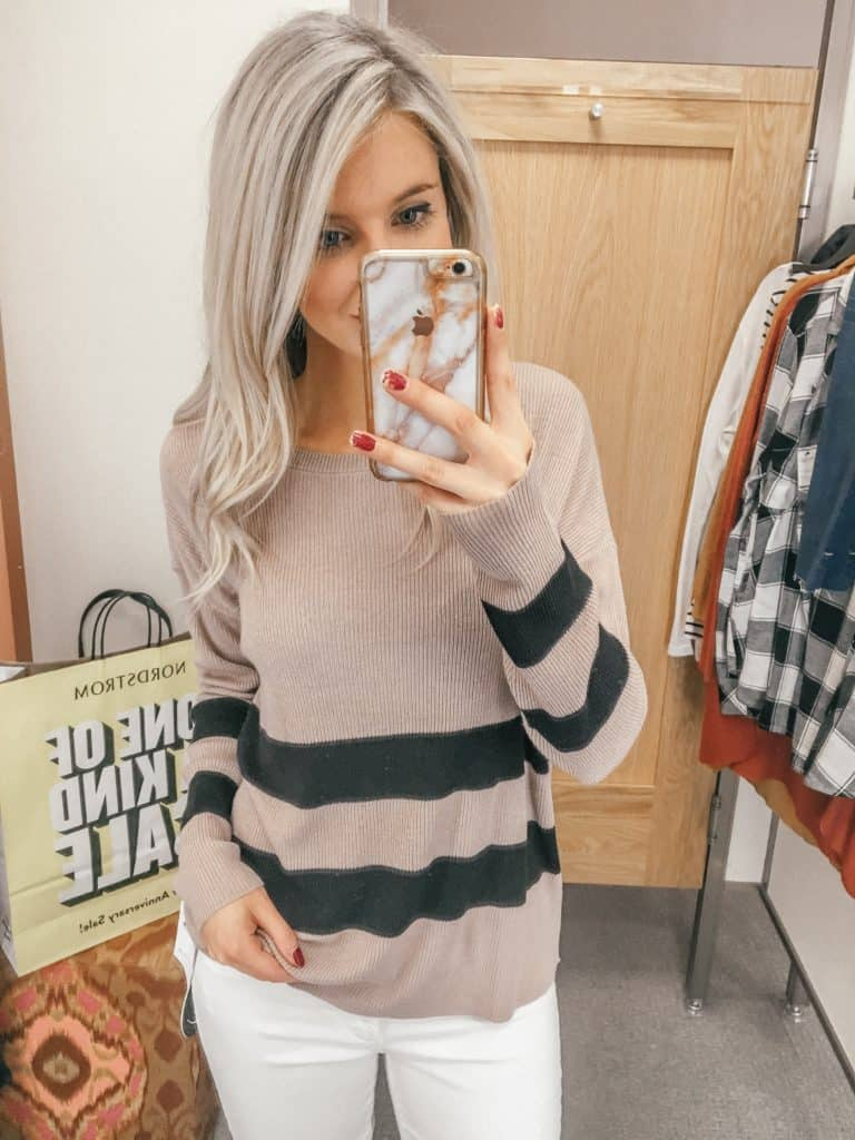 Nordstrom, Prada & Pearls, Fashion Blogger, nordstrom sale, capsule wardrobe, sale, nordstrom anniversary sale, fall sweater, sweater weather, sweater women fall, striped sweater, striped sweater women