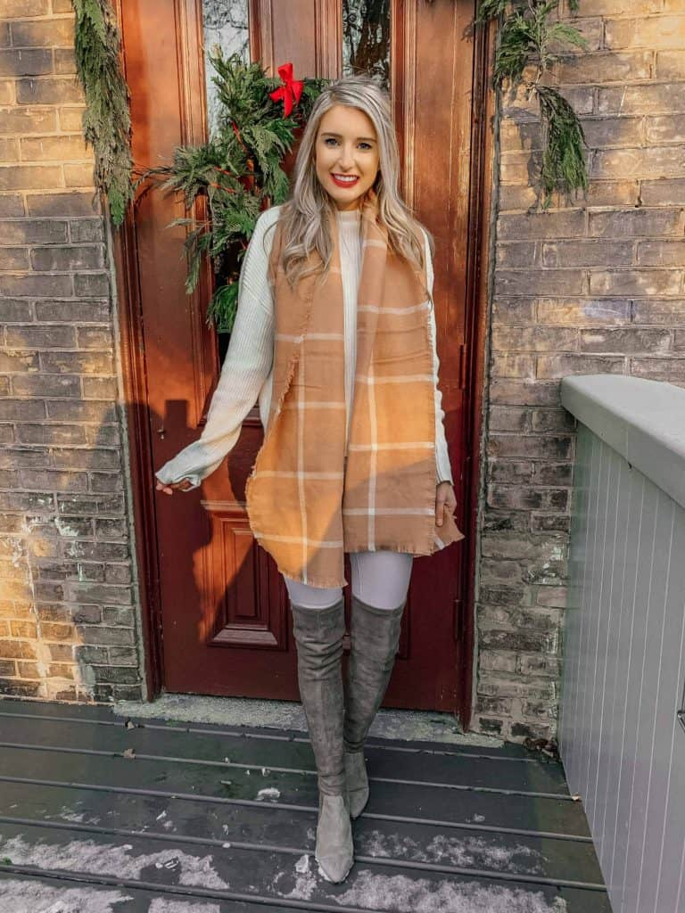 winter outfit, winter fashion, winter outfits, winter outfits cold, prada and pearls, prada & pearls, fashion blogger, winter outfits casual, winter outfits canada, winter scarf, scarf outfit, winter scarf outfit, winter scarf style, winter scarf pattern