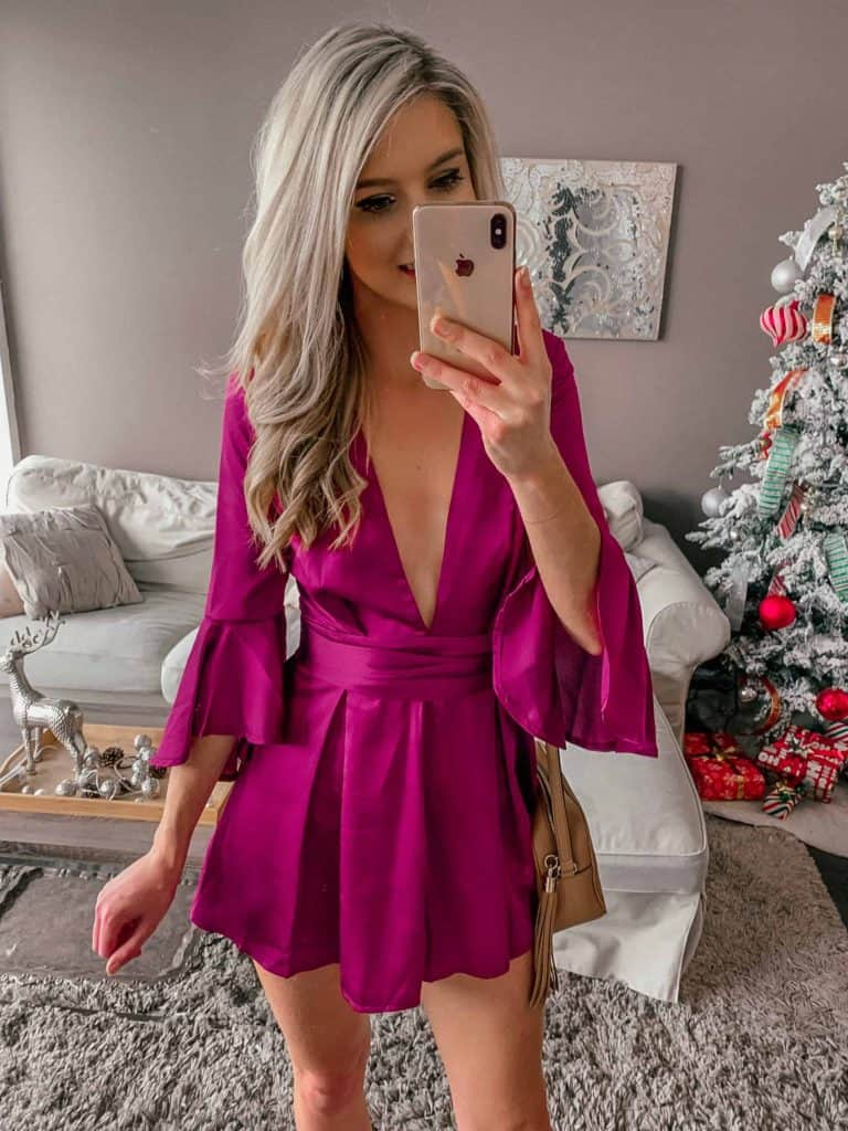 winter outfit, winter fashion, winter outfits, winter outfits cold, winter outfits casual, winter outfits canada, romper, rompers women, romper outfit, fuchsia romper, party romper outfit, prada and pearls, fashion blogger, party outfit, going out outfit