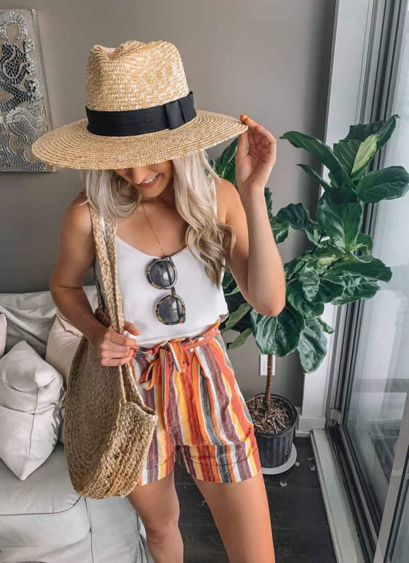 Paperbag Shorts Try-On! Prada & Pearls Fashion Blog