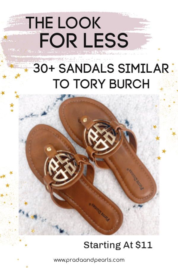 30+ Sandals Similar to Tory Burch!