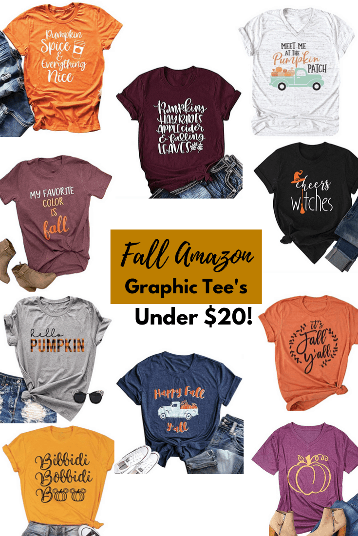 Fall Amazon Graphic Tees Under $20