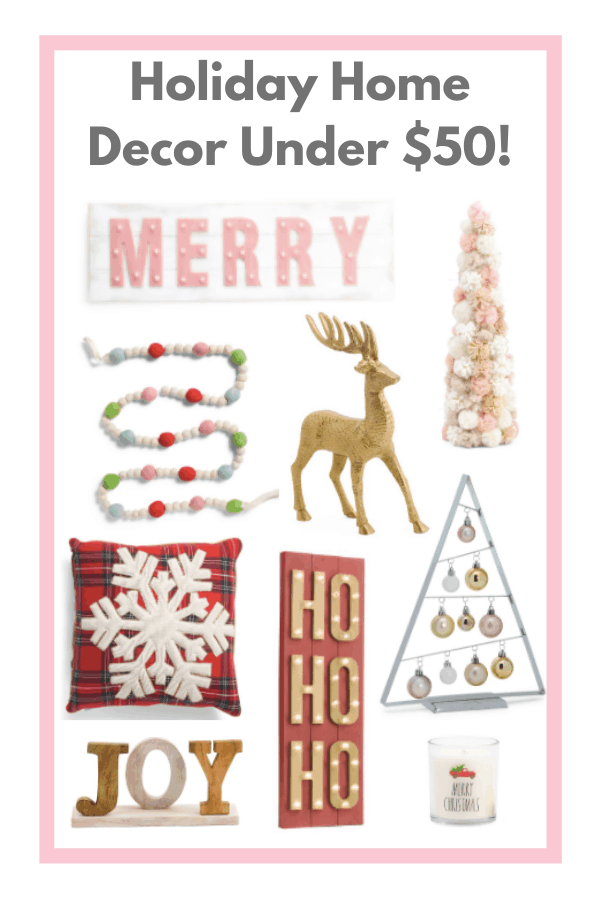 Holiday Home Decor Under $50!