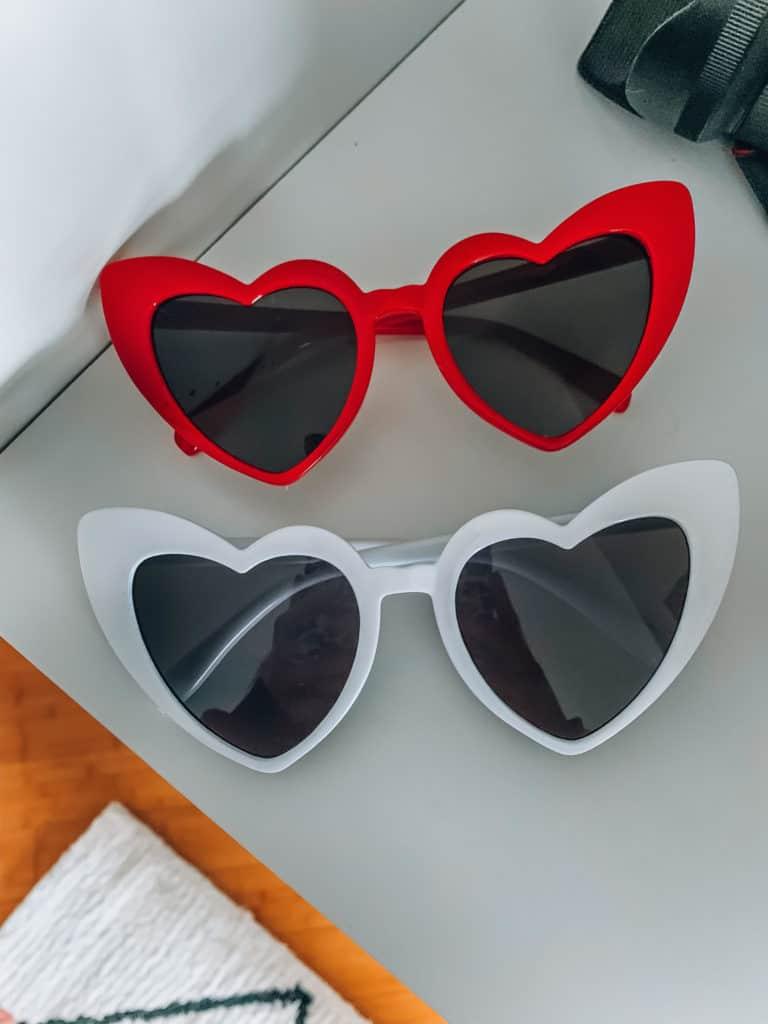 prada and pearls, fashion blogger, amazon, amazon things to buy, amazon must haves, amazon fashion, amazon style, amazon march haul, heart sunglasses, amazon sunglasses, red hear sunglasses, white heart sunglasses, amazon accessories