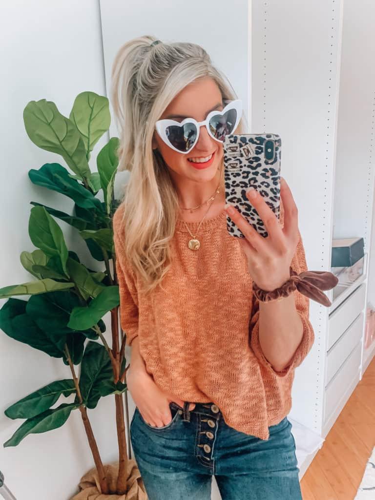prada and pearls, fashion blogger, amazon, amazon things to buy, amazon must haves, amazon fashion, amazon style, amazon march haul, spring fashion, heart sunglasses, white heart sunglasses, mirror selfie\