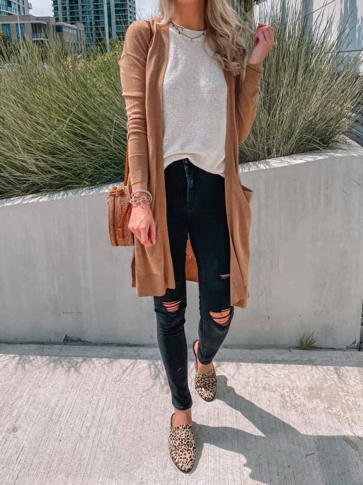 fall outfit, fall outfits, cute fall outfits, fall outfit 2020, leopard mules, casual fall outfits, sweater tank outfit, casual cardigan outfit, trendy fall outfit, old navy outfits, fall fashion, fall fashion 2020, fall fashion trends, Prada & Pearls
