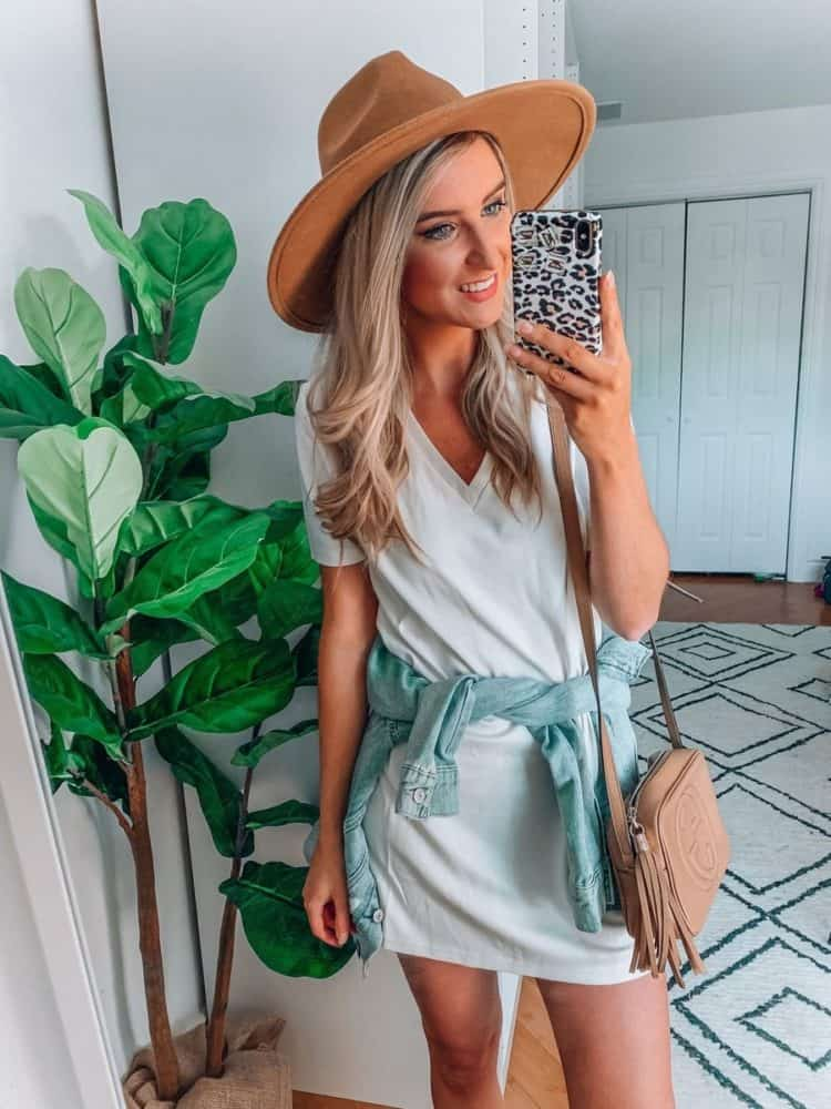 fall transition outfits, fall outfit, fall transition outfits casual, fall outfits women, casual fall outfits, casual outfits, outfit roundup, Prada and pearls, t-shirt dress, white dress