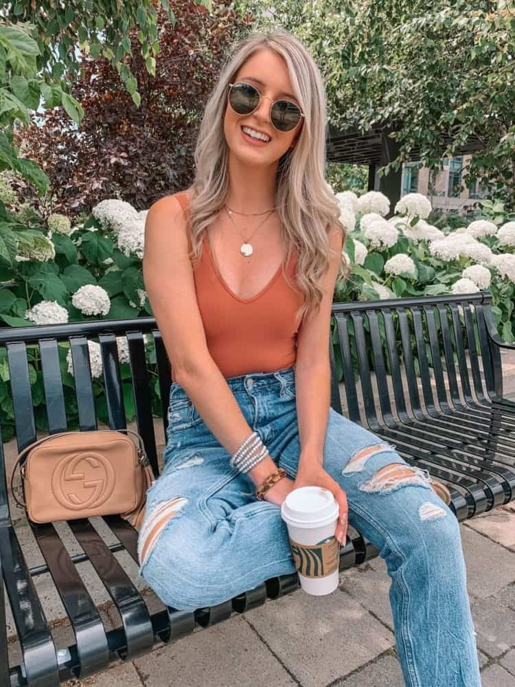 fall transition outfits, fall outfit, fall transition outfits casual, fall outfits women, bodysuit outfit, outfit roundup, Prada and pearls