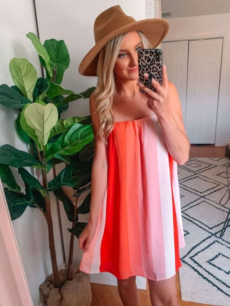 fall transition outfits, fall outfit, fall transition outfits casual, fall outfits women, casual fall outfits, casual outfits, outfit roundup, Prada and pearls, ombre dress, summer dress outfit