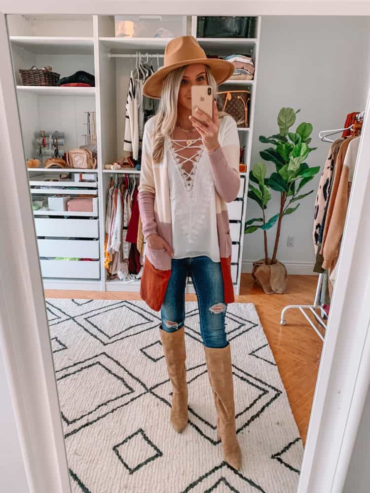 fall sweater finds, amazon must haves, amazon fall sweater haul, amazon must haves 2020, best amazon finds, amazon fashion, amazon fall fashion, best amazon sweaters, amazon sweater haul, amazon outfits, striped cardigan, colorblock cardigan