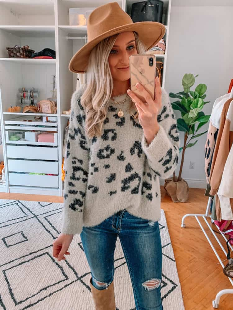 fall sweater finds, amazon must haves, amazon fall sweater haul, amazon must haves 2020, best amazon finds, amazon fashion, amazon fall fashion, best amazon sweaters, amazon sweater haul, amazon outfits, leopard sweater, fall sweater