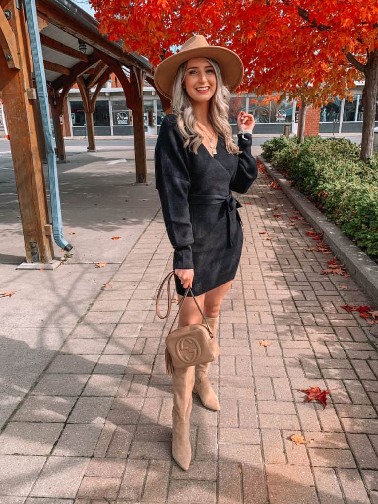 amazon fall dress, amazon must haves, amazon finds, amazon must haves 2020, amazon fall finds, amazon dress finds, amazon fall must haves, amazon sweater dress, black sweater dress, amazon black dress, Prada and pearls