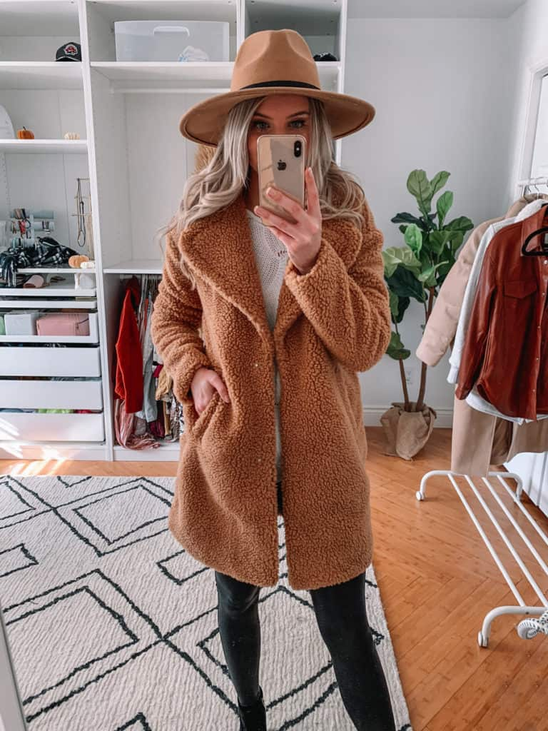 womens coats, womens coats 2020, womens coats casual, prada and pearls, teddy coat, abercrombie coat, womens coat winter, teddy coat outfit, teddy coat outfit casual, teddy coat outfit winter, fall style 2020, winter style 2020
