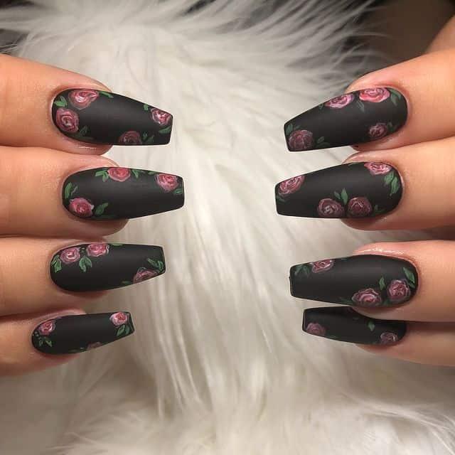 matte nails, matte nails coffin, matte nails acrylic, matte nails design, matte nails black, matte nails flowers, matte nails art