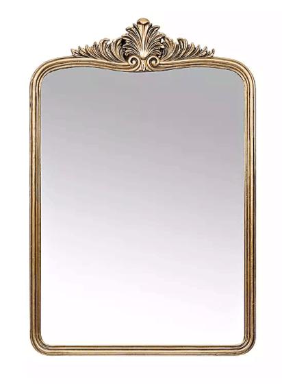 Anthropologie mirror, anthro mirror, ornate gold mirror, Anthropologie mirror dupe, Anthropologie dupe, gold mirror, Anthropologie home decor