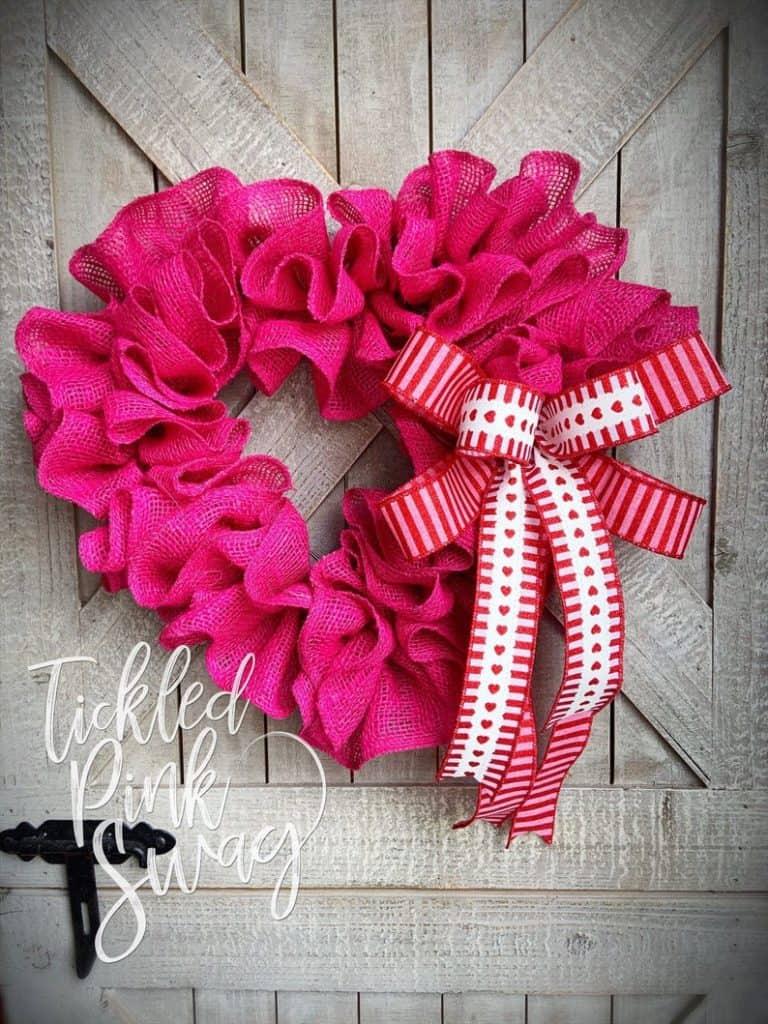 valentines day wreath, valentines day, valentines day decorations, valentines day wreath DIY, valentines day wreath mesh, valentines day wreath ideas, valentines day wreath diy front doors, valentines day decorations for home, wreaths for front door, red wreath, heart wreath, heart wreath DIY, heart wreath