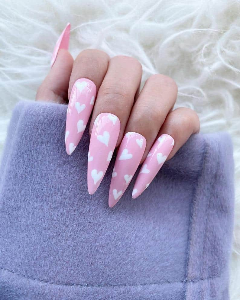 valentines day nails, valentines nails, heart nails, valentines nails acrylic, valentines nails coffin, valentines nails designs, valentines nails 2021, valentines day nails pink, valentines day nails coffin, valentines day nails acrylic, valentines nails press on, press on nails, prada and pearls