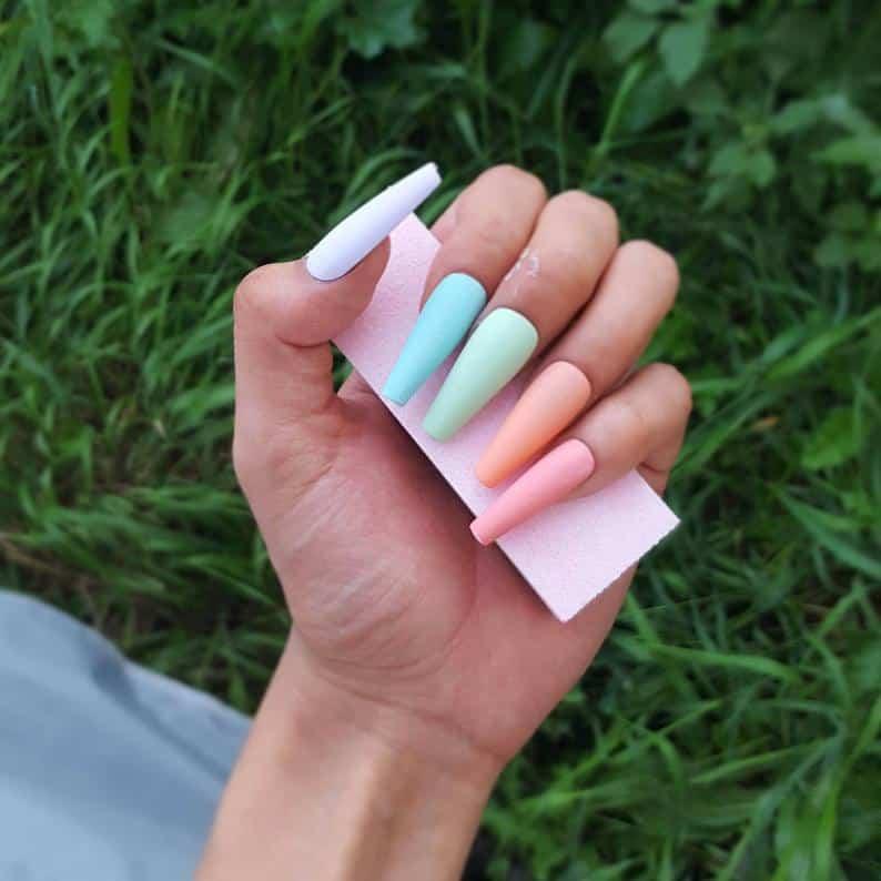 matte nails, matte nails coffin, matte nails acrylic, matte nails design, matte nails rainbow, matte nails pastel, matte nails art