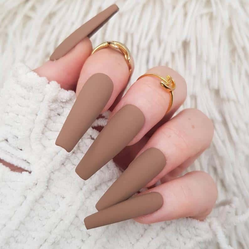 matte nails, matte nails coffin, matte nails acrylic, matte nails design, matte nails brown, matte nails beige, matte nails art