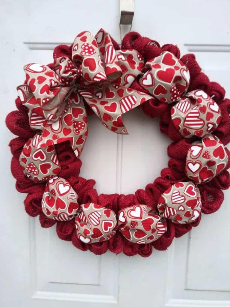 valentines day wreath, valentines day, valentines day decorations, valentines day wreath DIY, valentines day wreath mesh, valentines day wreath ideas, valentines day wreath diy front doors, valentines day decorations for home, wreaths for front door, red wreath, heart wreath, heart wreath DIY