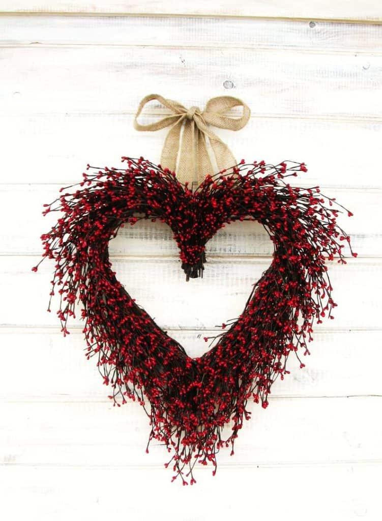 valentines day wreath, valentines day, valentines day decorations, valentines day wreath DIY, valentines day wreath mesh, valentines day wreath ideas, valentines day wreath diy front doors, valentines day decorations for home, wreaths for front door, red wreath, heart wreath, heart wreath DIY, berry wreath
