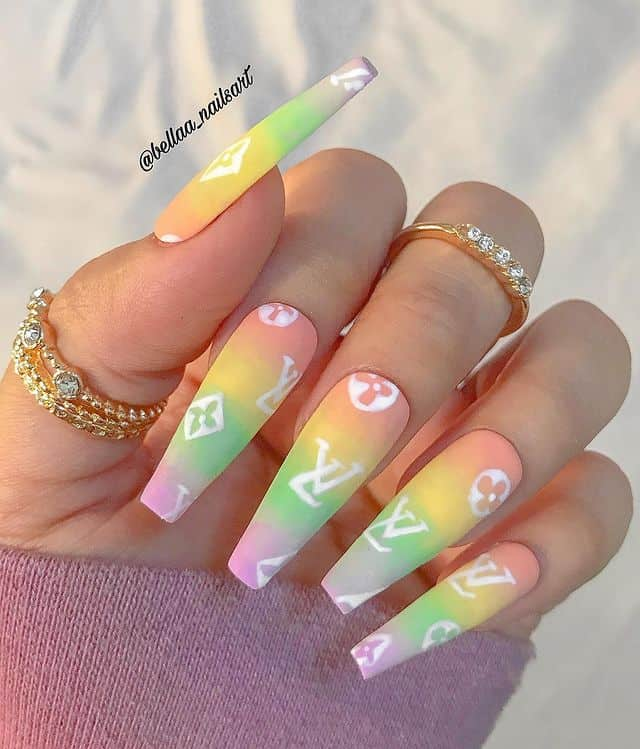ombre nails, ombre nail ideas, ombre nails pink, ombre nails short, ombre nails coffin, ombre nail art, cute ombre nails, ombre nail color ideas, rainbow nail ideas, rainbow nails, designer nails