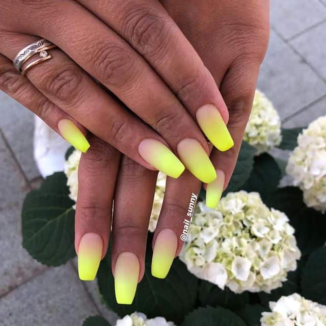 ombre nails, ombre nail ideas, ombre nails pink, ombre nails short, ombre nails coffin, ombre nail art, cute ombre nails, ombre nail color ideas, yellow ombre nails, yellow nail ideas, yellow nails