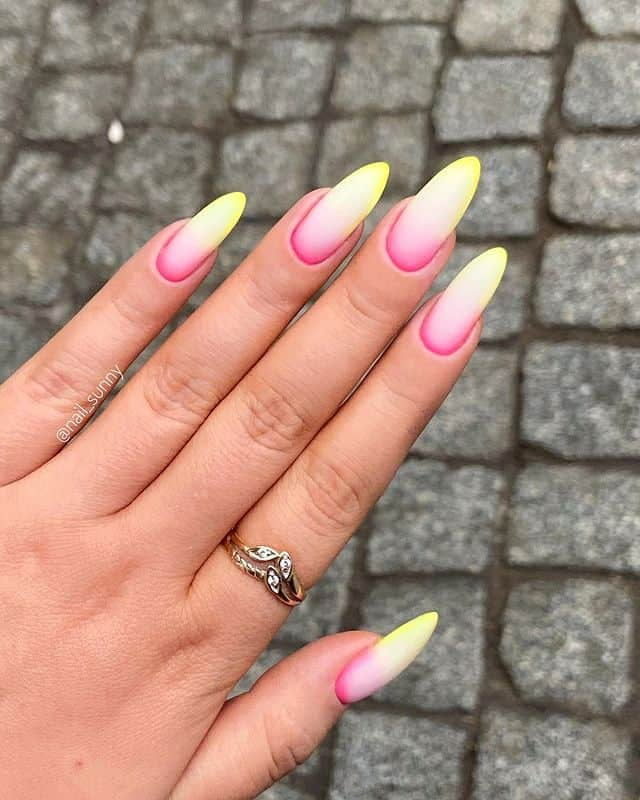 ombre nails, ombre nail ideas, ombre nails pink, ombre nails short, ombre nails coffin, ombre nail art, cute ombre nails, ombre nail color ideas, matte nails, matte nail ideas, yellow nails, pink nails