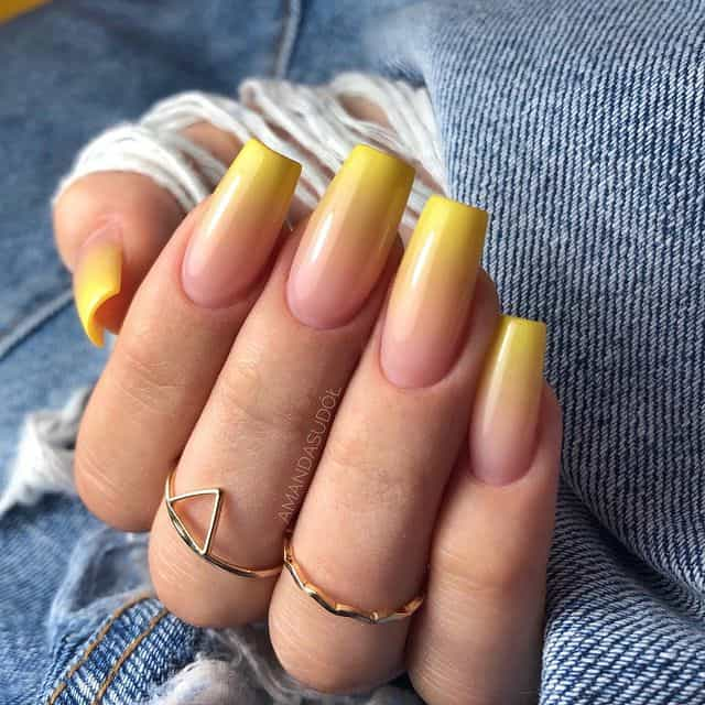 ombre nails, ombre nail ideas, ombre nails pink, ombre nails short, ombre nails coffin, ombre nail art, cute ombre nails, ombre nail color ideas, yellow nails, yellow nail ideas, yellow ombre nails