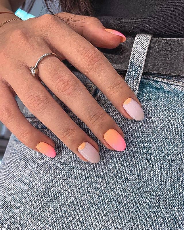 ombre nails, ombre nail ideas, ombre nails pink, ombre nails short, ombre nails coffin, ombre nail art, cute ombre nails, ombre nail color ideas, pink nails, orange nail art