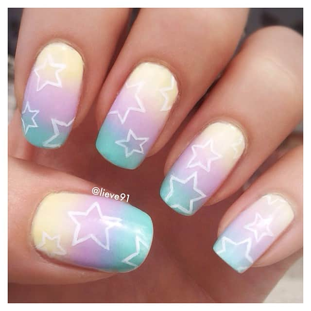 ombre nails, ombre nail ideas, ombre nails pink, ombre nails short, ombre nails coffin, ombre nail art, cute ombre nails, ombre nail color ideas, rainbow nails, rainbow nail ideas, star nails, star nail ideas