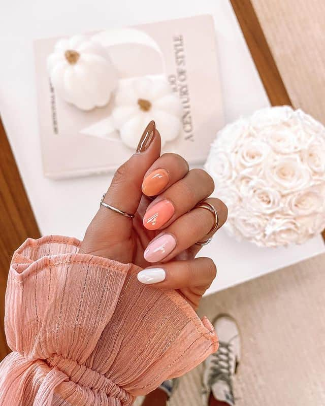 ombre nails, ombre nail ideas, ombre nails pink, ombre nails short, ombre nails coffin, ombre nail art, cute ombre nails, ombre nail color ideas, orange nails, orange ombre nails