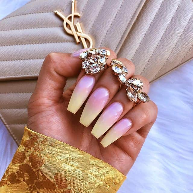 ombre nails, ombre nail ideas, ombre nails pink, ombre nails short, ombre nails coffin, ombre nail art, cute ombre nails, ombre nail color ideas, pink nail art, pink nails, yellow nails