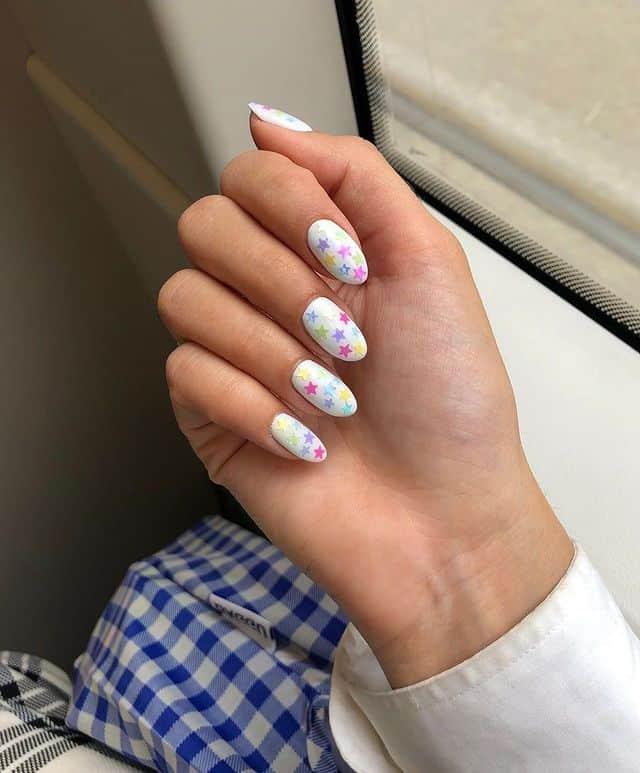 star nail designs, star nail art, star nails short, star nail ideas, star nails acrylic, nail art, rainbow nails