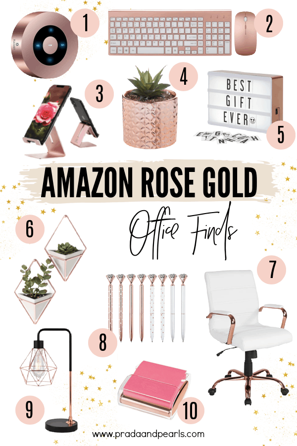 20+ Cute Rose Gold Office Decor Finds From Amazon!