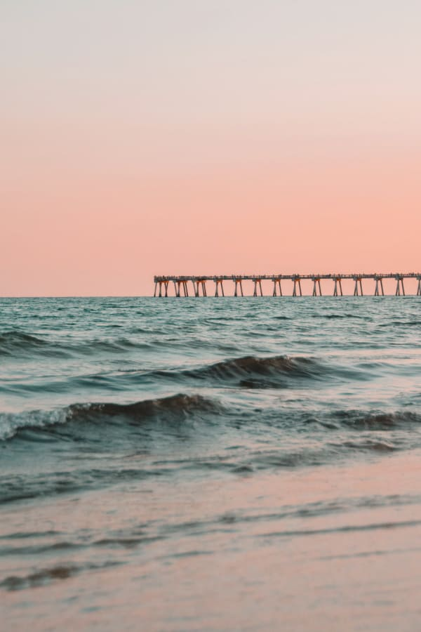 beach aesthetic, pink wallpaper, pink aesthetic, pastel wallpaper, waves wallpaper, ocean wallpaper, pink background
