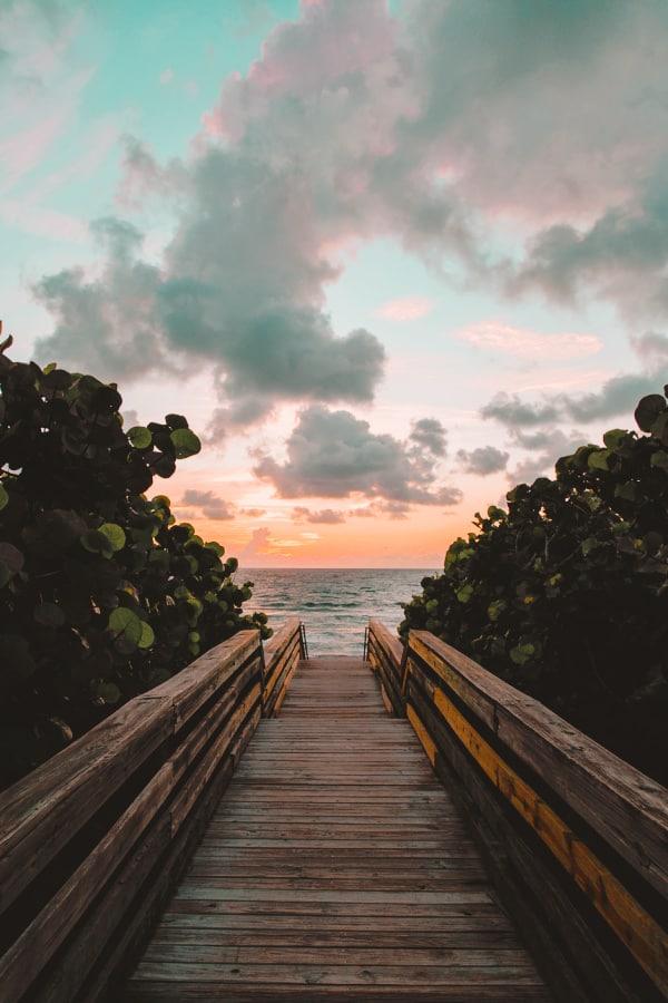 sunset wallpaper, beach wallpaper, pastel clouds, cute wallpaper, vacation wallpaper, beach wallpaper