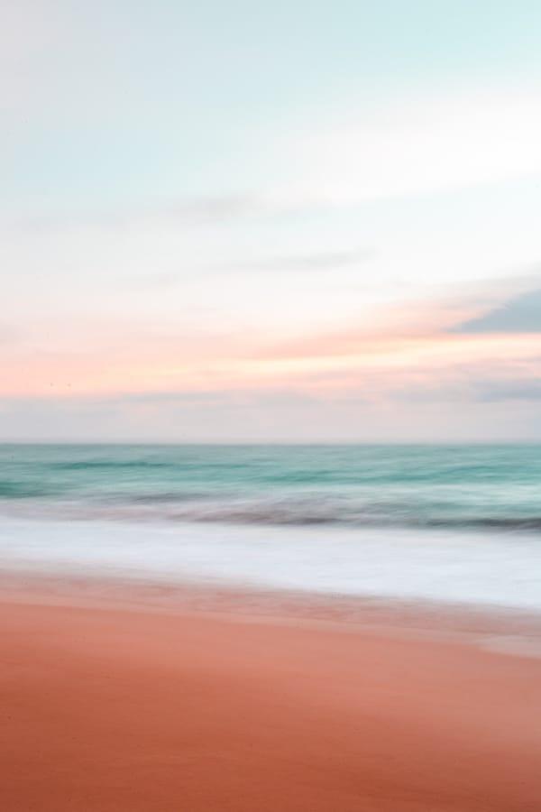 beach aesthetic, beach wallpaper, pink sand beach, pink beach aesthetic, pastel sky, pastel aesthetic, calm aesthetic, calm wallpaper