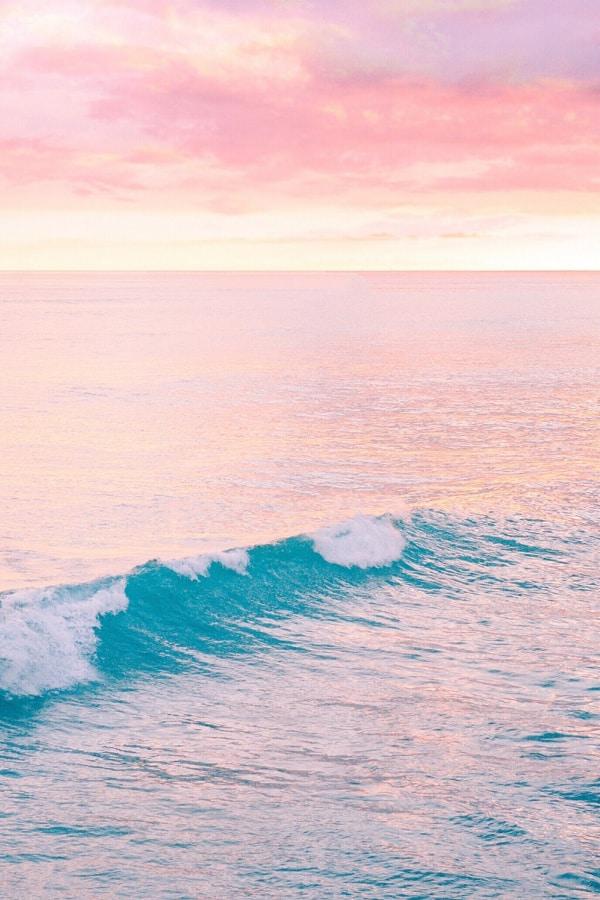 vacation wallpaper, pastel aesthetic, rainbow wallpaper, wave wallpaper, pink wallpaper, pink aesthetic, beach aesthetic