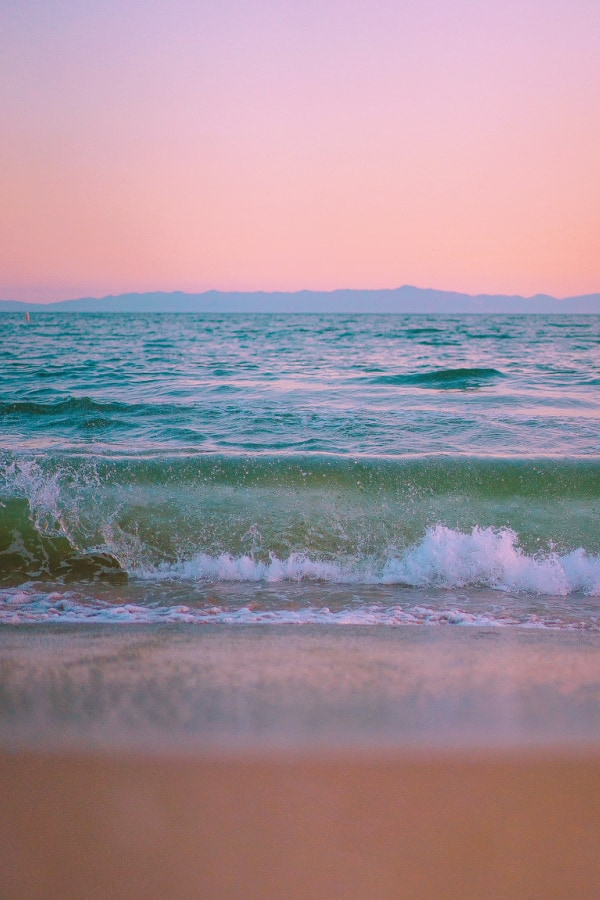 pink aesthetic, pink wallpaper, pink background, beach wallpaper, Beach background, paradise, waves, wave background