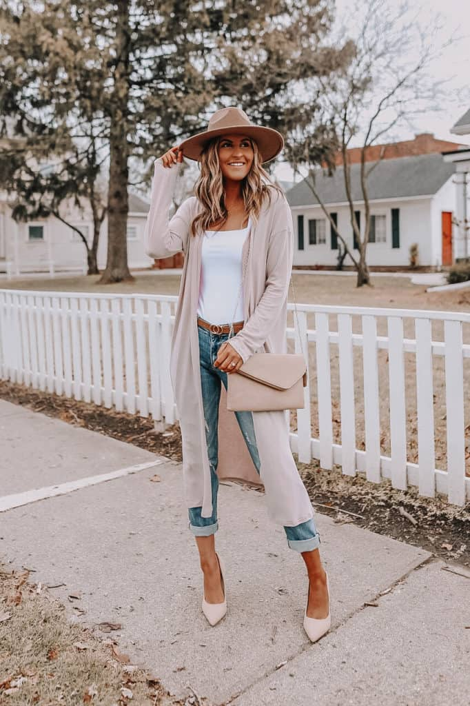 beige duster, pink duster outfit, casual spring outfit, casual spring 2021, spring 2021 outfit
