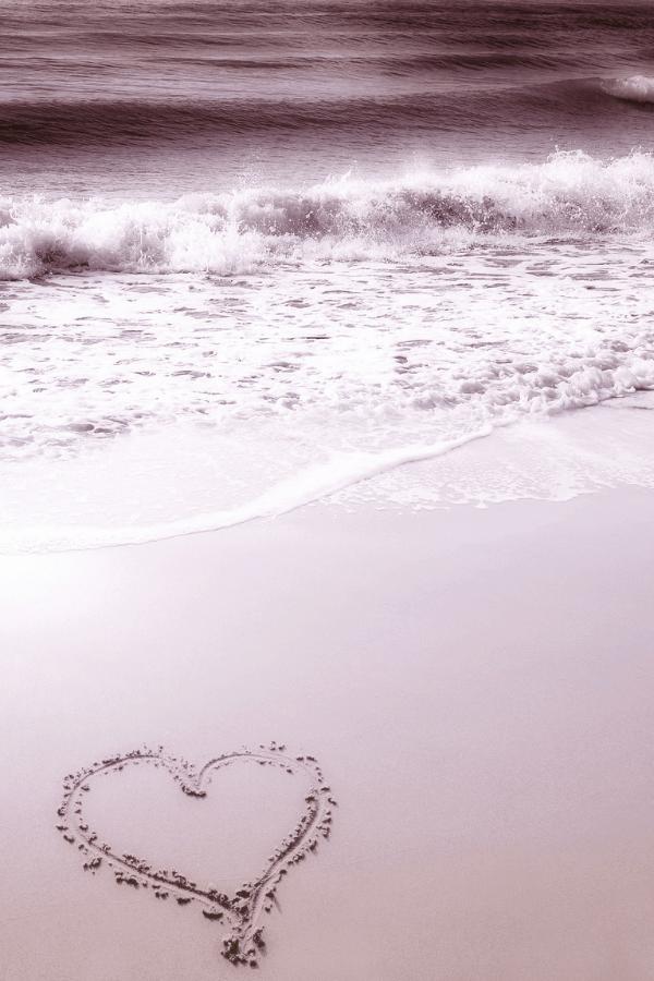 beach wallpaper iPhone, pink heart, pink heart wallpaper, pink aesthetic, vacation wallpaper, ocean wallpaper, tropical wallpaper