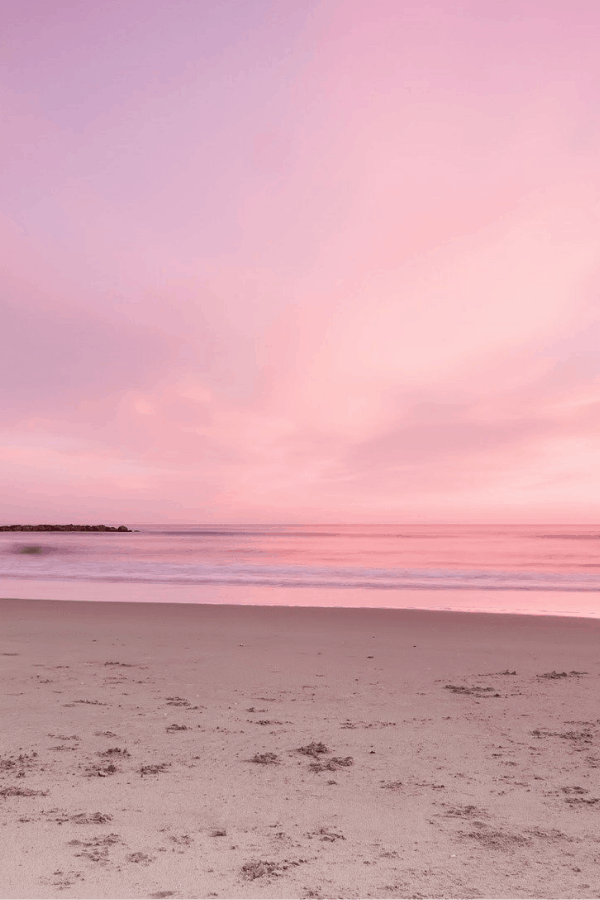 pink sky, pink aesthetic, pink wallpaper, pink beach, pink sunset, pink background, cute background, beach wallpaper, pretty wallpaper