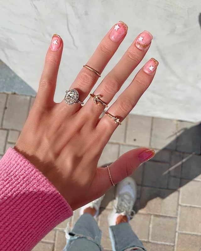 star nail designs, star nail art, star nails short, star nail ideas, star nails acrylic, nail art