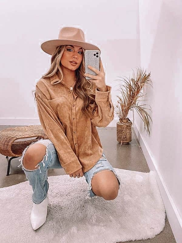 beige jacket, shacket outfit, casual spring outfit
